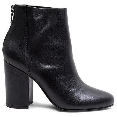 Star Boot - Black Leather
