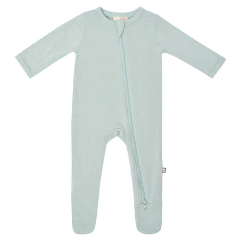 Kyte Baby Zipper Footie in Sage - This Little Piggy