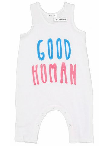 Good Human Embroidered Playsuit