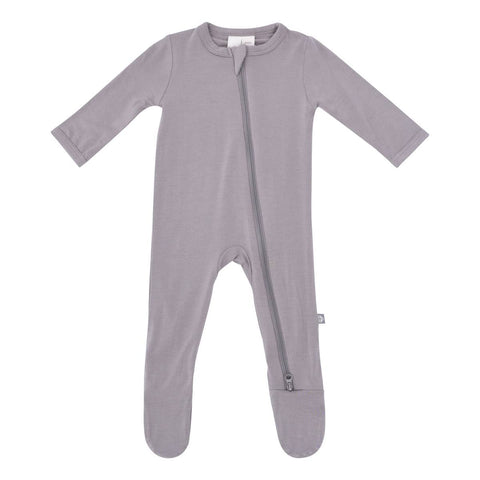 Kyte Baby Zipper Footie in Clay