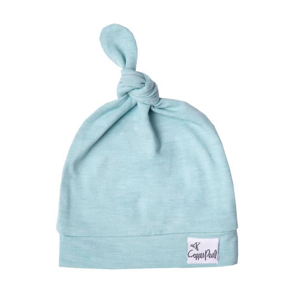 Newborn Top Knot Hat - Sonny