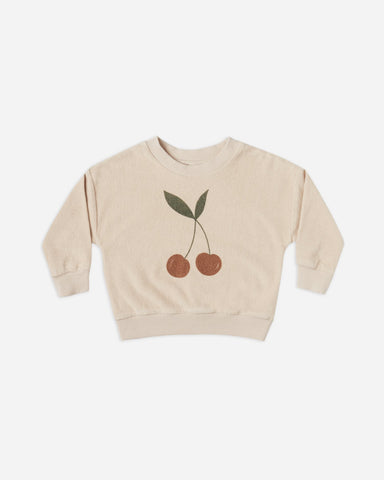Rylee & Cru - Terry Crewneck | Cherry - This Little Piggy
