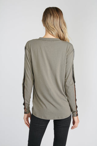 Tulle Inserts - High-Low Long Sleeve Shirt