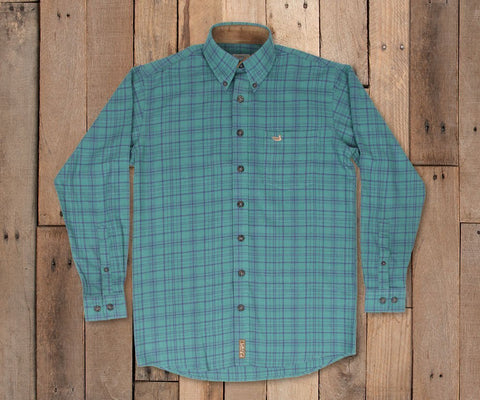 Cannon Flannel - Dark Green & Navy