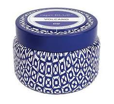 Volcano Signature Blue Mini Tin Candle