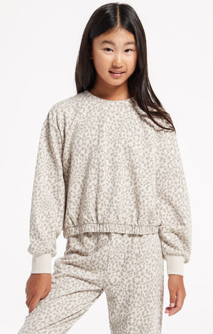 Z Supply Girls - Carmen Leopard Pullover - This Little Piggy