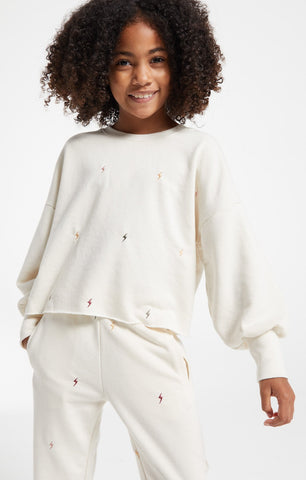 Z Supply Girls - Kira Mini Bolt Pullover - This Little Piggy