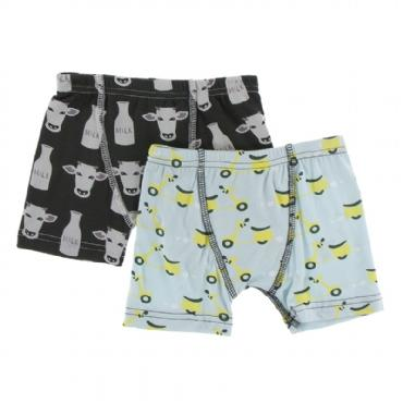 Boxer Briefs Set Zebra Tuscan Cow & Spring Sky Scooter