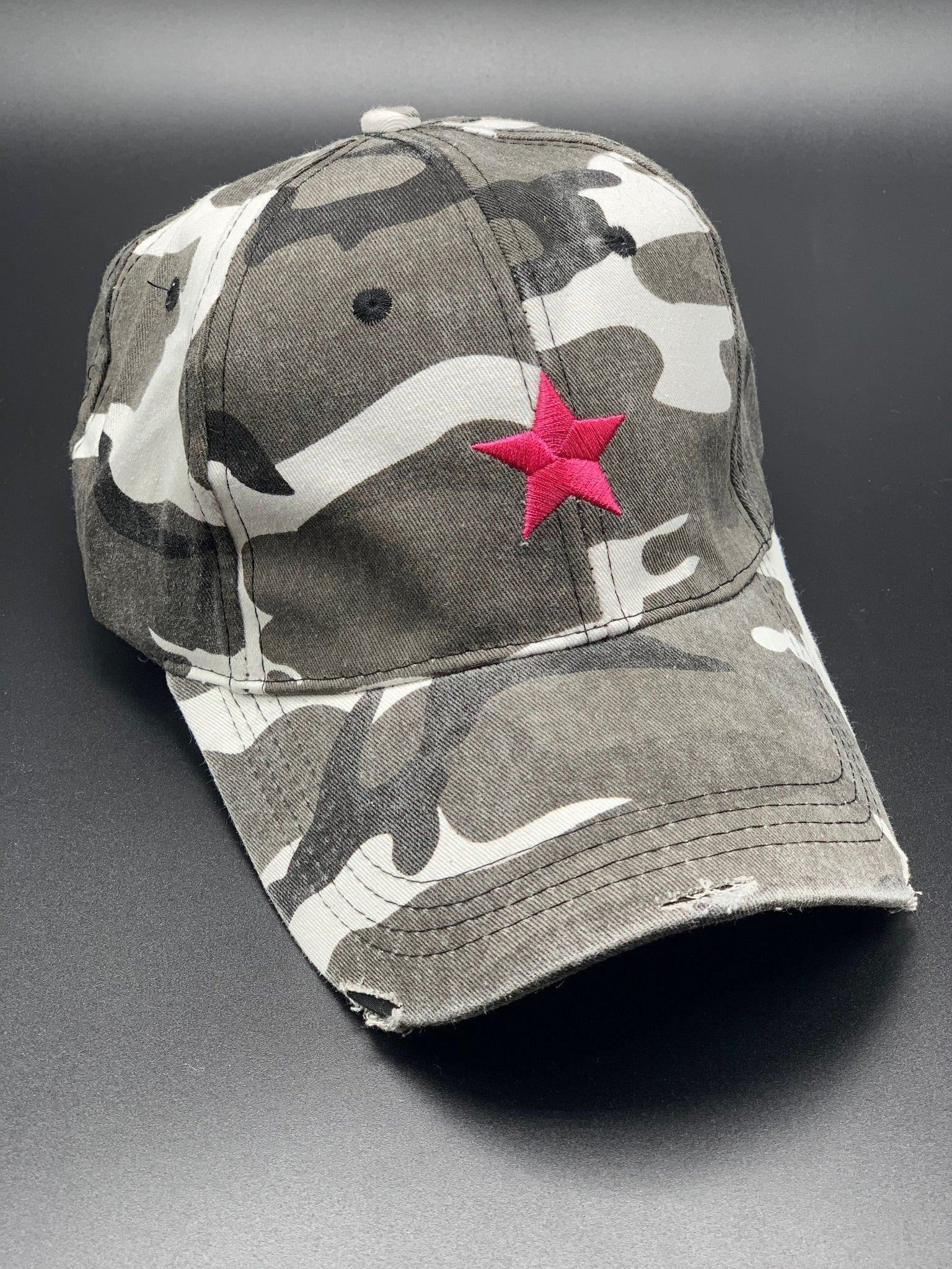 Haute Shore Boardwalk Baseball Cap - Camo w/Pink Star