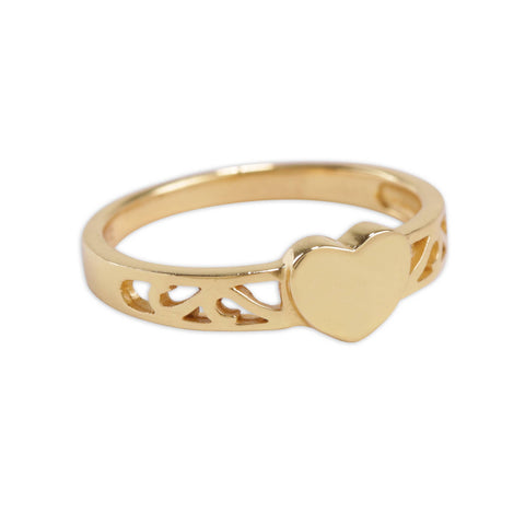 Gold Plated Heart Baby Ring - This Little Piggy
