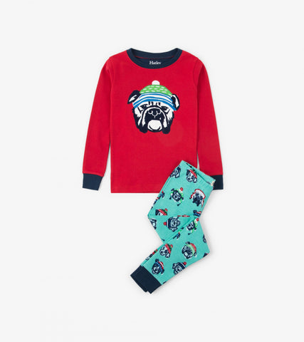 Cozy Pups Organic Cotton Applique Pajama Set - This Little Piggy