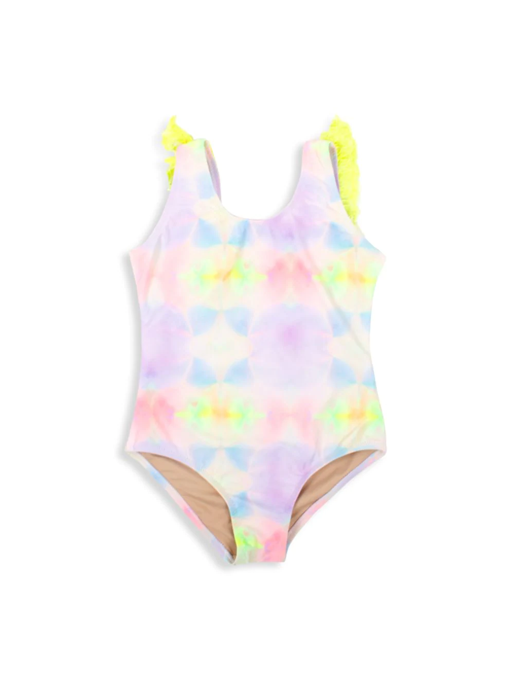 Little Girl's Tie-Dye Fringe One-Piece Swimsuit
