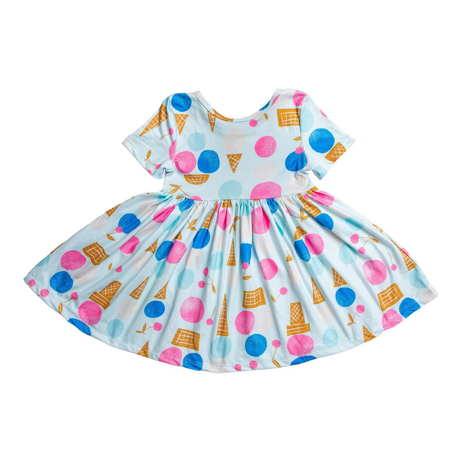We All Scream Short Sleeve Twirl Dress