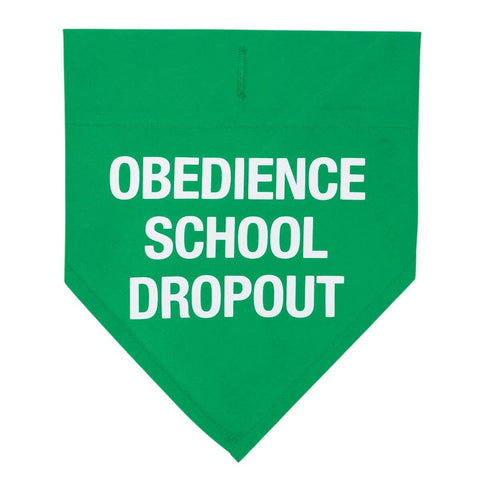 Obedience School Dropout Large / X-Large Dog Bandana