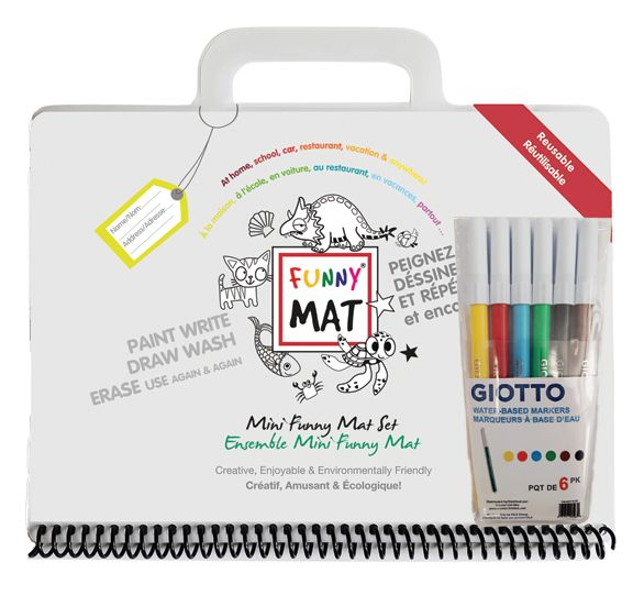 Funny Mat Travel Pack With Markers