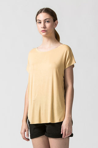 Dolman Sleeve Curved Hem Top