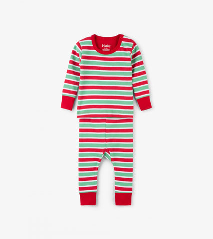 Holiday Stripe Organic Cotton Baby Pajama Set