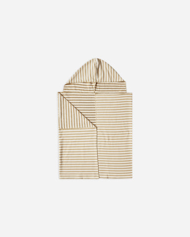Rylee & Cru - Hooded Towel | Almond Stripe - This Little Piggy