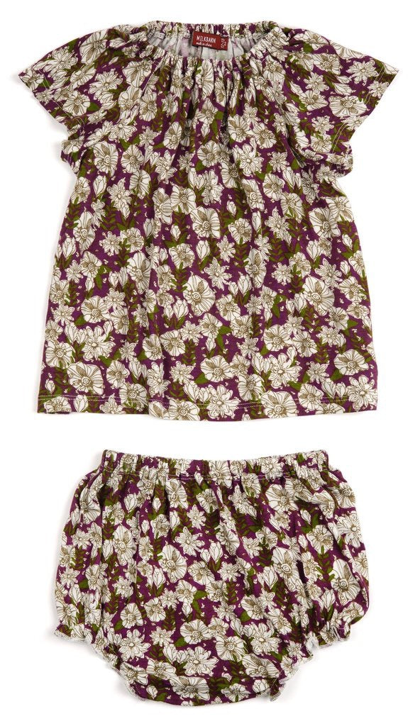 LS Dress Set - Purple Floral