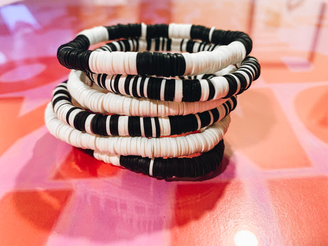 Stackable B&W Bracelets