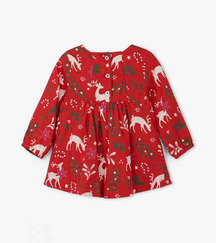 Mistletoe Deer Baby Party Dress