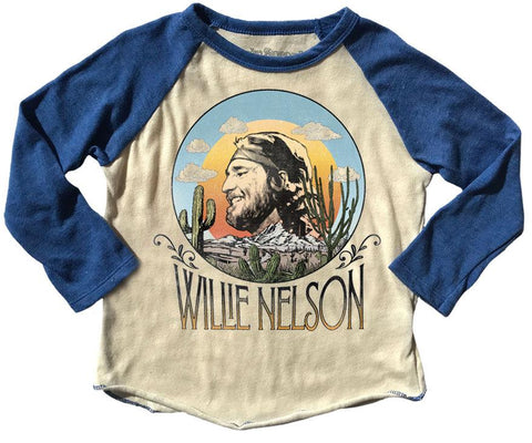 Rowdy Sprout - Willie Nelson Raglan Tee - This Little Piggy