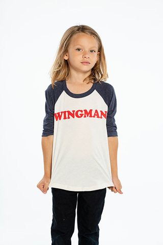Vintage Jersey 3/4 Sleeve Raglan Baseball Tee Wingman - This Little Piggy