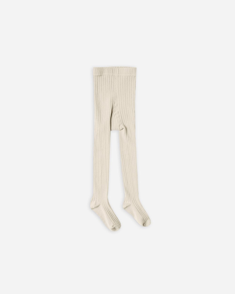 Solid Ribbed Tights - Wheat