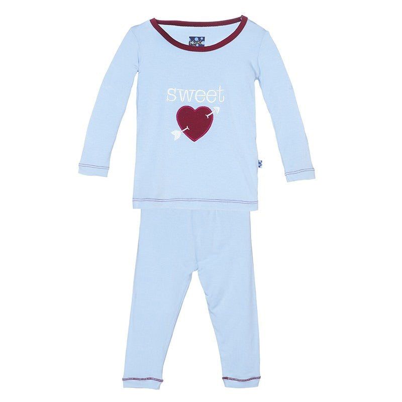 Holiday Long Sleeve Applique Pajama Set