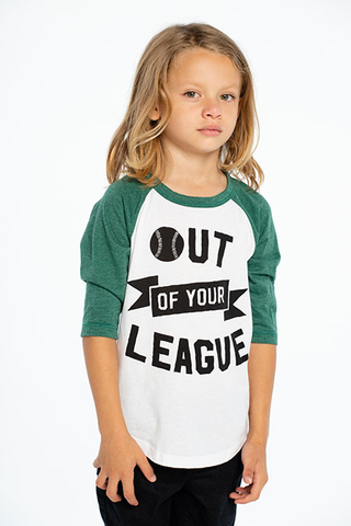 Vintage Jersey 3/4 Sleeve Raglan Baseball Tee Out of Your League - This Little Piggy