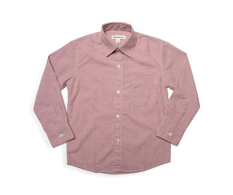 Standard Shirt - Brick Red Check - This Little Piggy