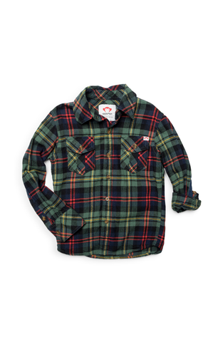 Flannel Shirt - Dark Ivy Plaid