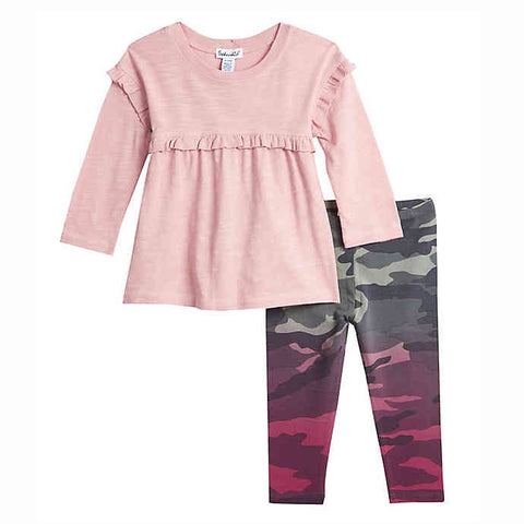 Dip Dye Camo Legging Set - This Little Piggy