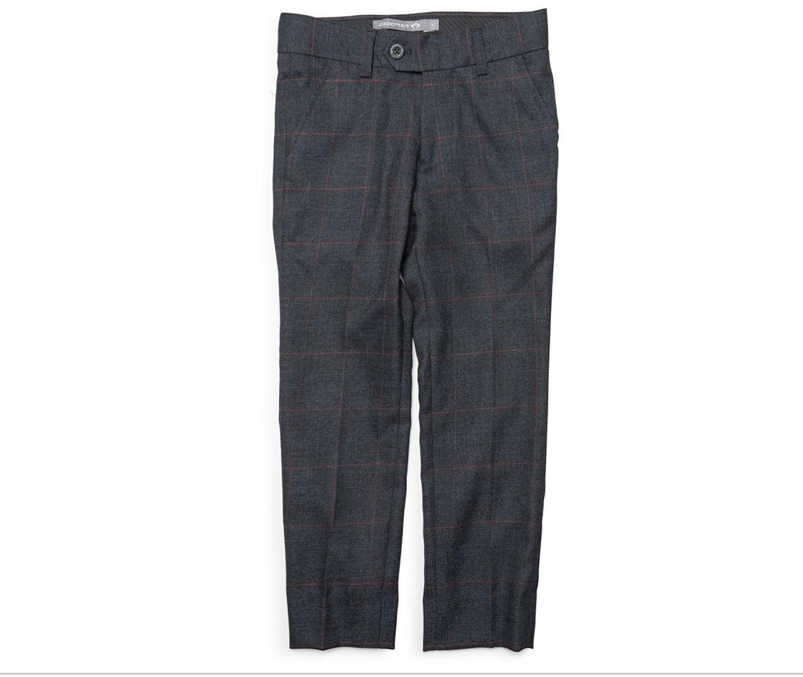 Suit Pant - Graphite Windowpane