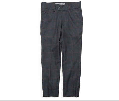Suit Pant - Graphite Windowpane - This Little Piggy