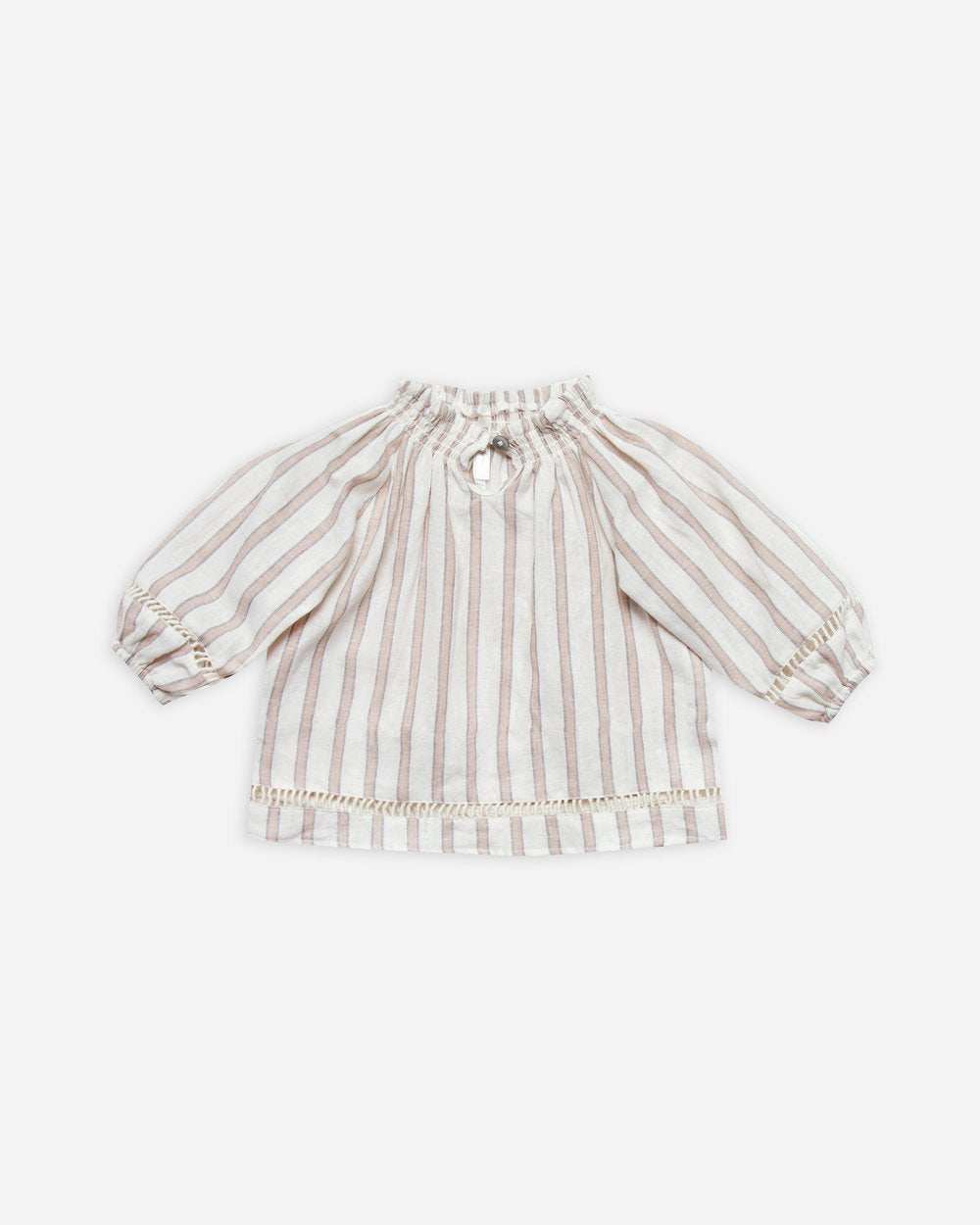 Stripe Quincy Blouse - Truffle