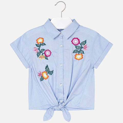 Oxford Embroidered Blouse