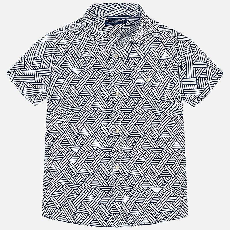 Geometric Short Sleeve Shirt
