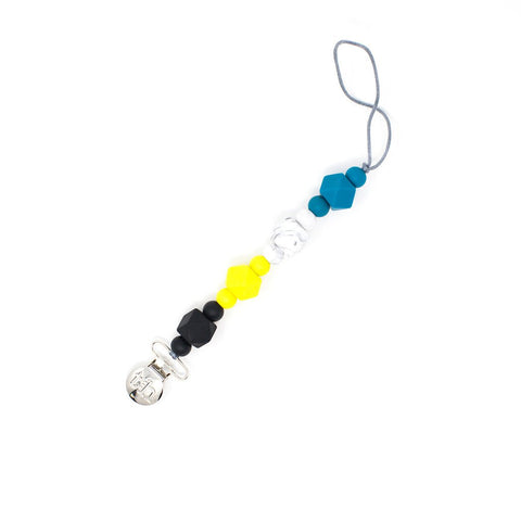 Jewel Pacifier & Toy Clip