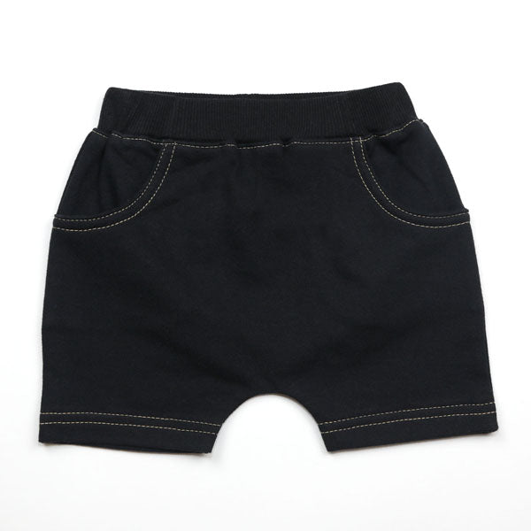 KAPITAL K - BLACK FRENCH TERRY SHORTS - This Little Piggy