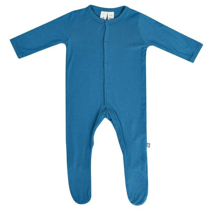 Kyte Baby Button Up Footie In Teal