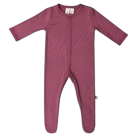 Kyte Baby Footie In Plum - This Little Piggy