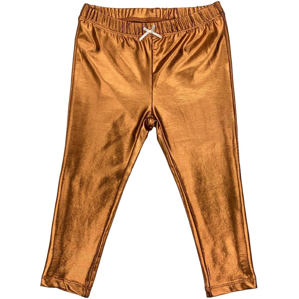 Baby Lame Legging - Copper