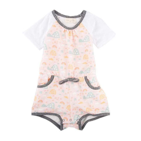 Miki Miette - Simone Rainbow Short Romper - This Little Piggy