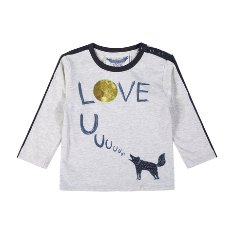 Love UUUU T-Shirt - Light Grey Marle/Multi Colored - This Little Piggy