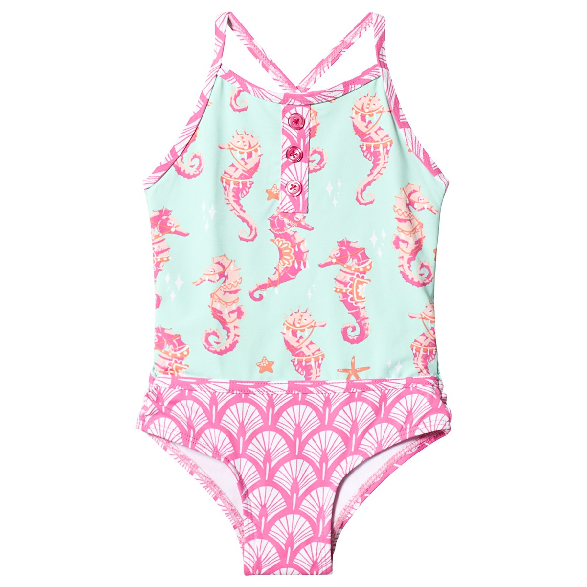Fantastical Seahorses Colourblock Swimsuit