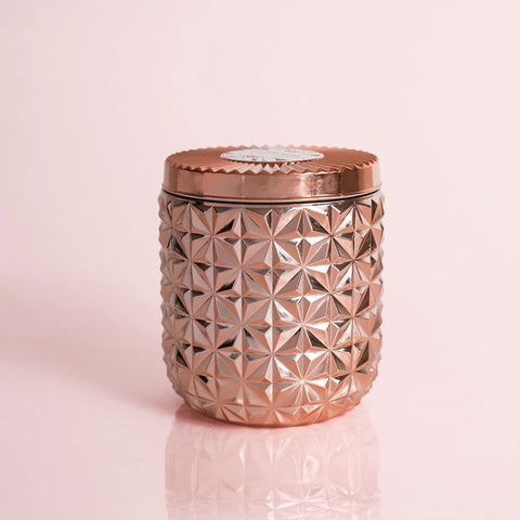 Pink Grapefruit & Prosecco Gilded Faceted Jar, 30 oz - This Little Piggy