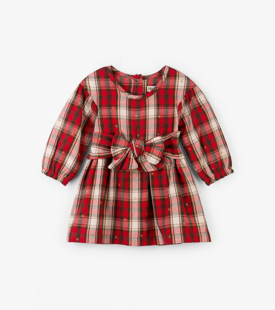 Holiday Plaid Baby Party Dress