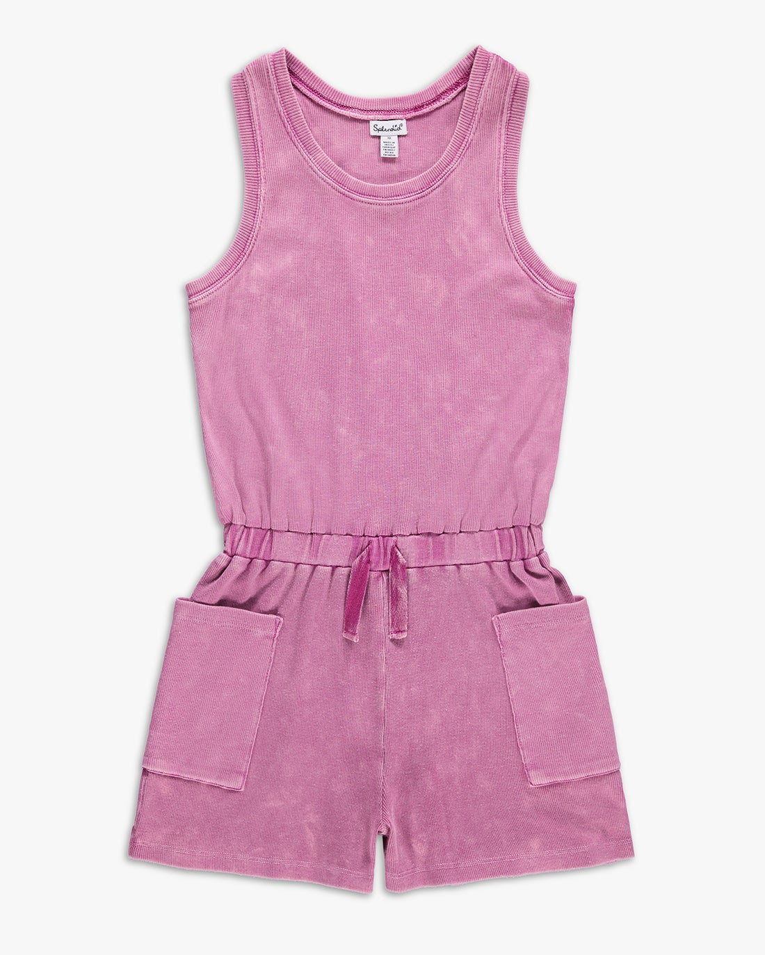Mineral Washed RIbbed Romper