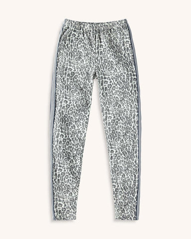 Girl Leopard Print Stripe Legging - This Little Piggy
